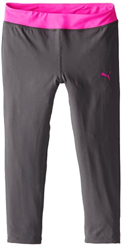 - PUMA Big Girls' Tech Capri, Shadow Gray/Pink, Medium