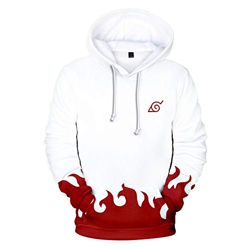 mucloth 3D Printing Fourth Hokage Yondaime Hokage Adult Pullover Hoodie Sweatshirt Cosplay Costume Unisex (X-Large)