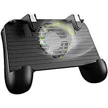 Mobile Game Controller 4-in-1 Upgrade Version Gamepad Shoot and Aim Trigger Phone Cooling Pad Power Bank for Android & Iphone PUBG/Fortnite / Knives Out