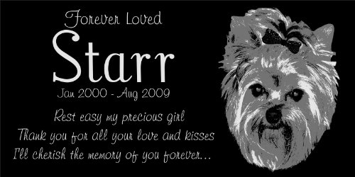 Personalized Yorkshire Terrier Pet Memorial 12