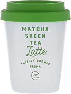 DW Home Latte Fresh Aroma Single Wick Candles with Lid (11.2 oz) (Matcha Green Tea Latte)