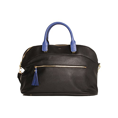 tutilo-women-handbags-serenade-work-tote-tassel-black-cobalt