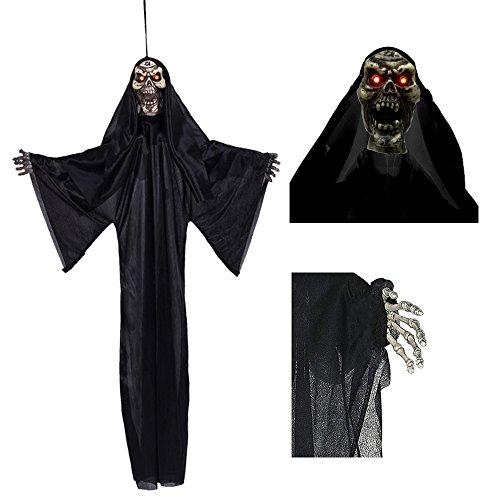 35'' Halloween Horror Decorations,Hanging Ghost Grim Reaper Skeleton