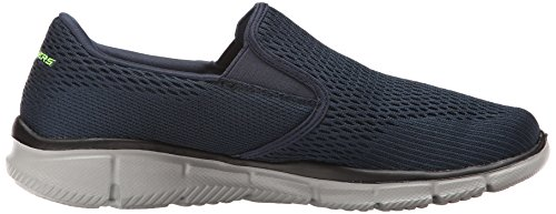 Skechers Sport Mens Equalizer Double Play Wide Slip-on Loafer, Navy, 9.5 2E US