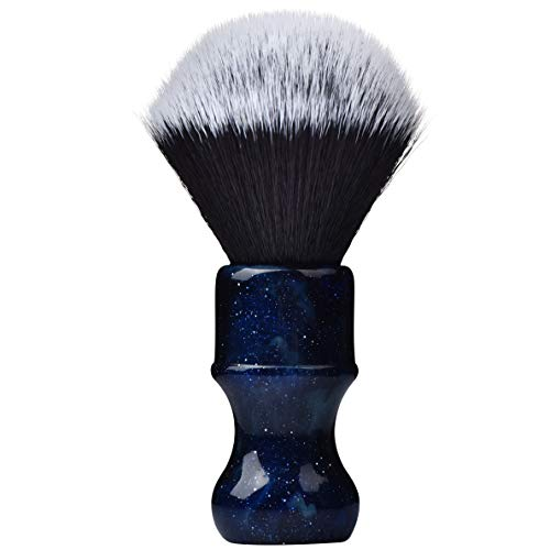 - Je&Co Luxury Synthetic Shaving Brush With Aesthetic Resin Handle, 24mm Extra Dense Knot (Blue)