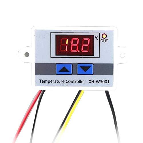 Blanc Num/érique LED Contr/ôleur de temp/érature Thermostat Commutateur de commande /étanche Sonde Fil Connecter Capteur de temp/érature haute sensibilit/é