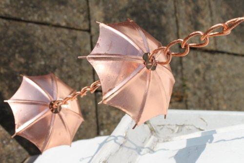Regenketten Regenkette Schirm Aus Verkupfertem Metall Amazon De