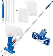 Lishiny Aspirador portátil de piscina com escova, mini aspirador de pó portátil acessórios de limpeza de pisci
