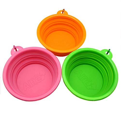 Buy bamboo pet collapsible travel bowl 3 cup