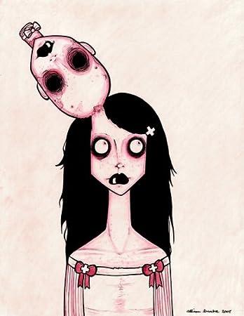 Amazon Com Dead Head By Ally Burke Zombie Girl Death Metal Tattoo