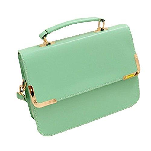 FTSUCQ Womens Envelope Flap Totes Messenger Shoulder Bags Handbags Hobos Green Clutches