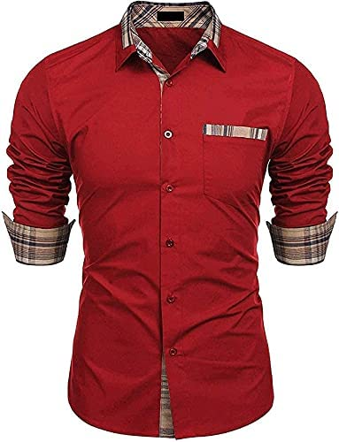 Crazy Mart Men's Cotton Casual Fancy Shirt for Men Full Sleeves, 100% Cotton Shirts,Office wear,Formal Shirt
