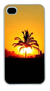 iphone 4 case brand new covers Sunset PC White for Apple iPhone 4/4S