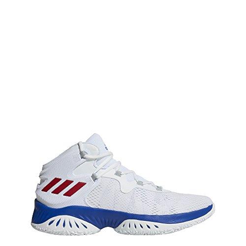 adidas Herren Explosive Bounce Basketballschuhe Weiß (Ftwbla/Rojpot/Reauni 000)