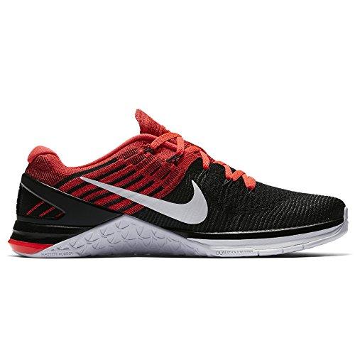 Nike Mens Metcon Dsx Scarpa Da Allenamento Flyknit Nero / Bianco-luminoso Rosso Cremisi-palestra