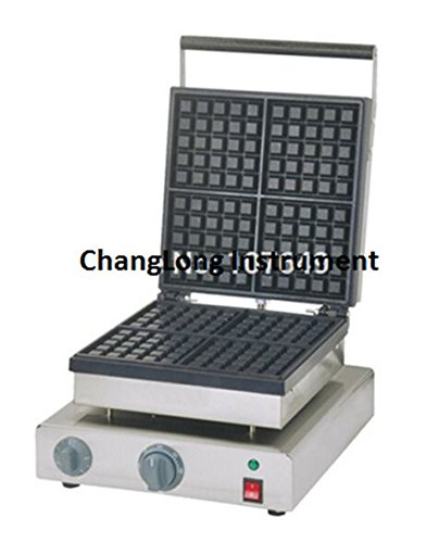 Changlong instrumentFY-22062A Commercial Use Non-stick Electric 4-Slice 13.5cm Square Classic Waffle Machine Maker Iron Baker 110V/220V