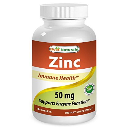 Best Naturals Zinc supplement as Zinc Gluconate 50mg 240 Tablets (1) Review