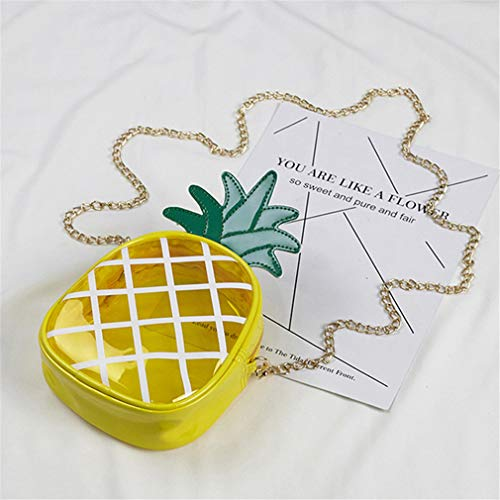 Mujer Cute Yellow de Pineapple Crossbody Hombro Yellow Bolsos de 14x17x5cm qnOxzRXt