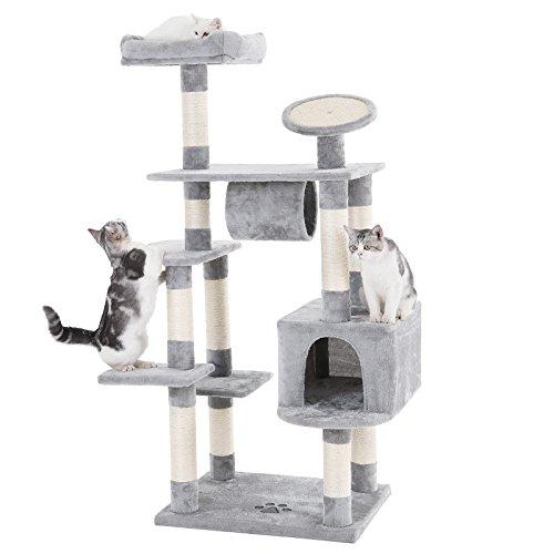 "SONGMICS 62"" Large Cat Tree Condo Multi-level Cat Tower with"
