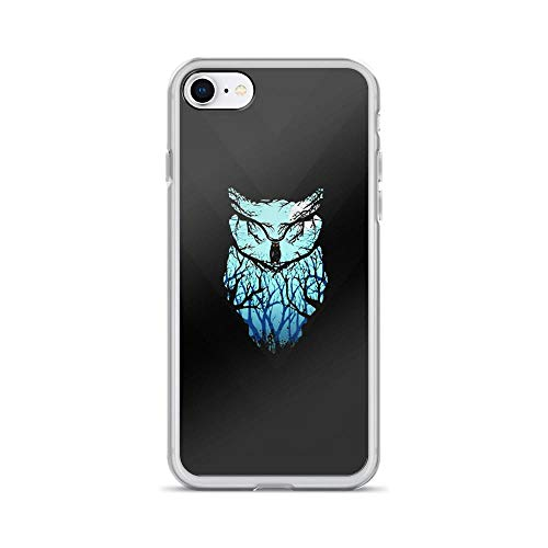 (iPhone 7/8 Pure Clear Case Cases Cover Owl Silhouette Art)
