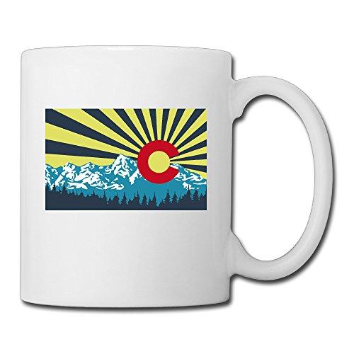 Colorado Flag Coffee Mug Water Cup Drinking Cup Beer Mug Milk Cup Tea Cup Restaurant Cups Ceramic Mug Morning Cup White