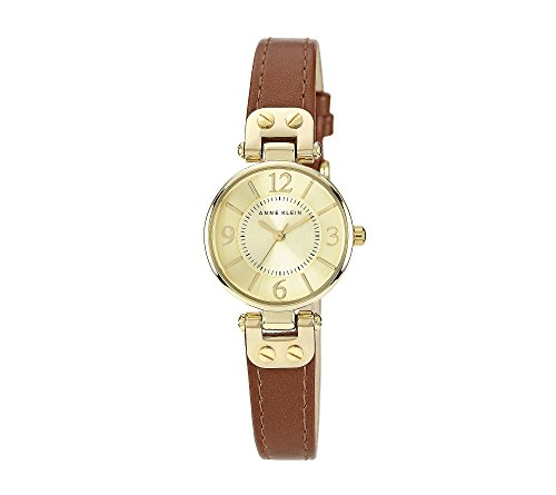 Anne Klein Goldtone Case with Honey Leather Strap