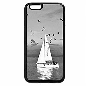 iPhone 6S Case, iPhone 6 Case (Black & White) - Romantic escape for two