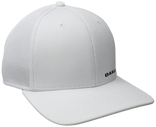 (Oakley Men's Silicon Bark Trucker 4.0, White, L/XL)
