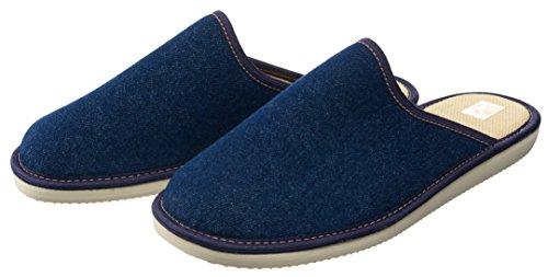 Bosaco - Zapatillas de estar por casa de Material Sintético para hombre Multicolor azul vaquero