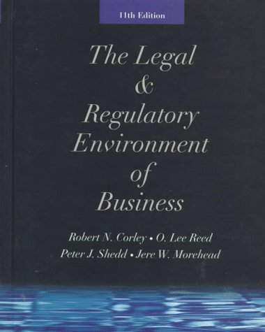 The Legal & Regulatory Environment of Business