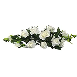 Dorigan Artificial Art Flowers IVORY SWAG Roses Silk Wedding Flowers Centerpieces Decorations Unity Bridal 27