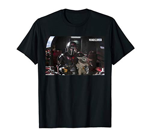 Star Wars The Mandalorian and The Child Pilot and Co-Pilot T-Shirt