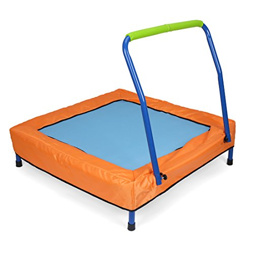 Newsky Newsky Folding Mini Trampoline for Kids with Handle and Carry Bag...