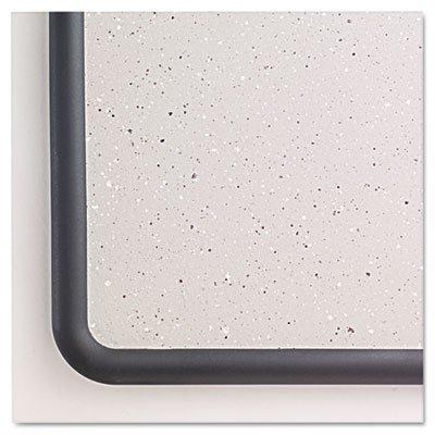 Contour Granite Gray Tack Board, 36 x 24, Black Frame, Sold as 1 Each