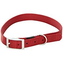 Dogit Nylon Single Ply Dog Collar with Buckle, Large, 22-Inch, Red