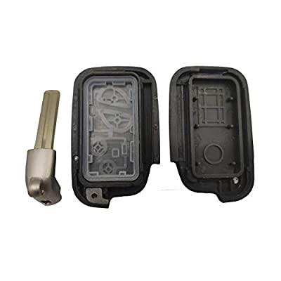 Key Shell Replacement for 4 Buttons ES350 2007-2014, GS350 2007-2014, GS430 2005-2007, IS250 2007-2012, IS350 2006-2012, LX570 2008-2013, RX350 2008-2013 Entry Smart Remote Control Key Fob Case: Car Electronics