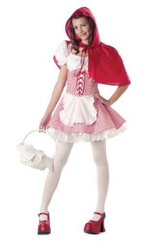 California Costumes Women's Miss Red Riding Hood Costume,Red/White,3-5