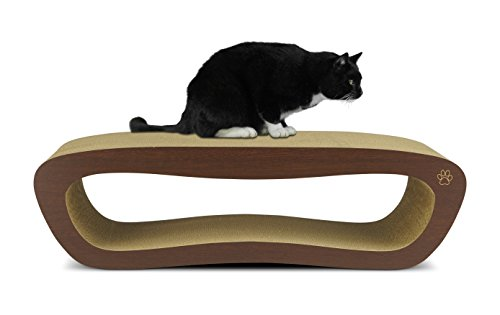 Oliver scratching posts iris premium cat scratcher hollow for Curved cat scratcher