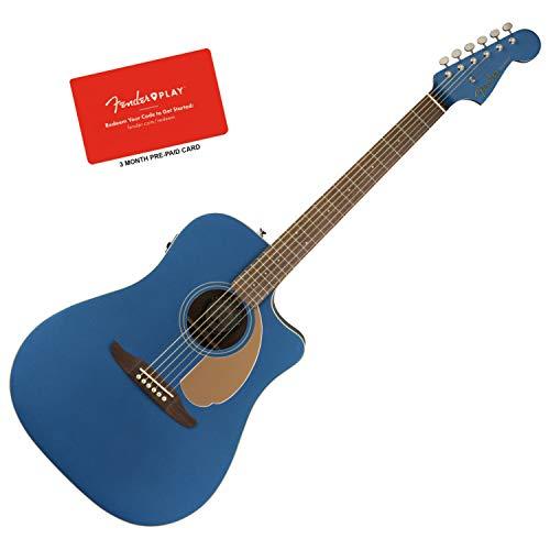 r Belmont Blue Acoustic-Electric Guitar Bundle w/Fender Play ()