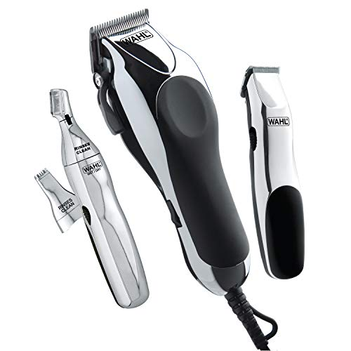 Wahl Clipper Home Barber Kit Model 79524-3001, Electric Clipper, Touch Up Trimmer & Personal Groomer – 30 Piece Kit for…