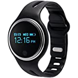 LJCCQ Fitness Tracker Activity Tracker Waterproof Bluetooth Wireless Bracelet Smart watch Smart Band Sleep Monitor Wristband,Black