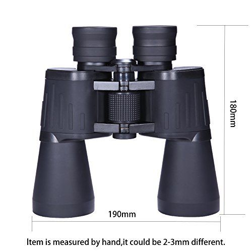 SCOKC Binoculars for Adults 10x50 Bird Watching with Low Light Night Vision Stargazing Outdoor Sightseeing Climbing Traveling Sport Game Concerts,Durable Portable and Fully Coated Lens ... (10x50)