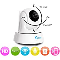 InCliick X3 Wireless Security Camera, 960P IP Camera Home Surveillance Camera Pan Tilt with Two-Way Audio, Night Vision, Motion Detection, Baby Pet Video Monitor Nanny Cam, InCliick iOS Android APP