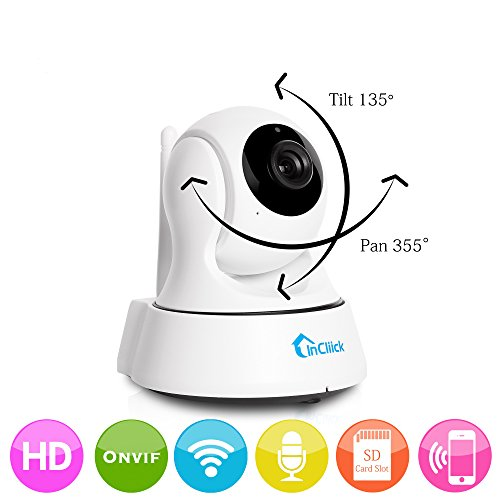 InCliick X3 Wireless Security Camera, 960P IP Camera Home Surveillance Camera Pan Tilt with Two-Way Audio, Night Vision, Motion Detection, Baby Pet Video Monitor Nanny Cam, InCliick iOS Android APP (Nanny Cam Audio Video)
