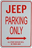 jeep garage - JEEP PARKING ONLY - Miniature Fun Parking Signs