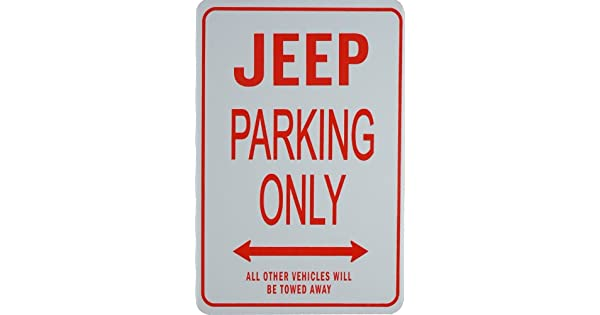 Amazon.com: Jeep Parking Only – Miniatura Fun Parking Signs ...
