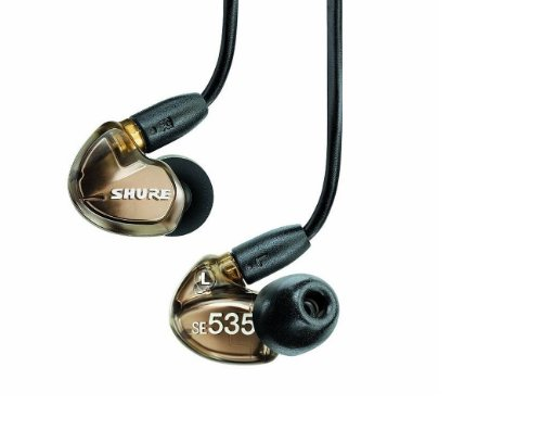 Shure SE535-V Sound Isolating Earphones with Triple High Definition MicroDrivers (Bronze)