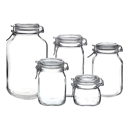 Bormioli Rocco Fido Hermetic 5-Piece Jar (Hermetic Glass Jars)