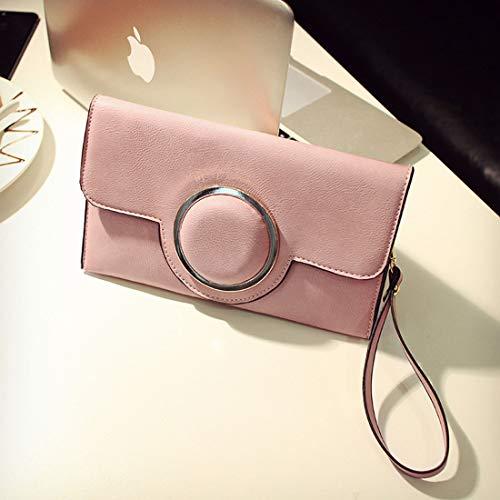 Simple Couleur Rétro Grise D'enveloppe Bandoulière color En Magnétique Et Cuir Type Pink Sac Pu À Houyazhan De Gray vxOUqfw7F