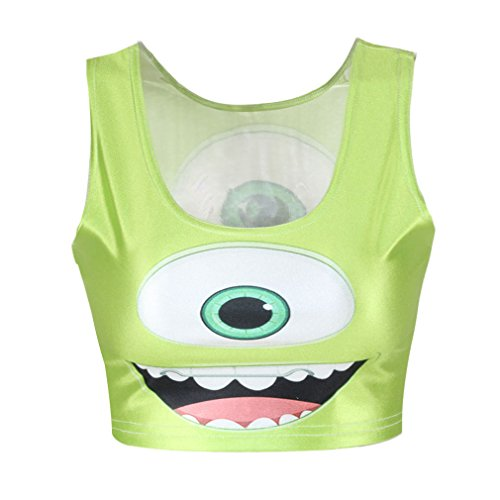 crazycatz - Camiseta sin mangas - para mujer Big eye
